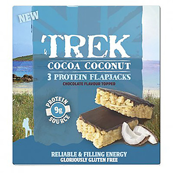 Trek Cocoa coconut 3 protein flap jacks 150g