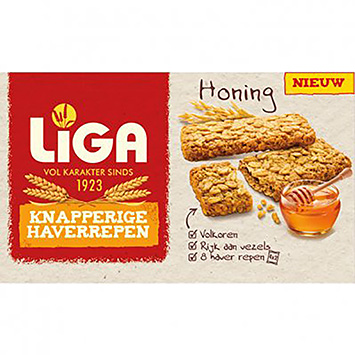 League Crispy oat bars of honey 168g