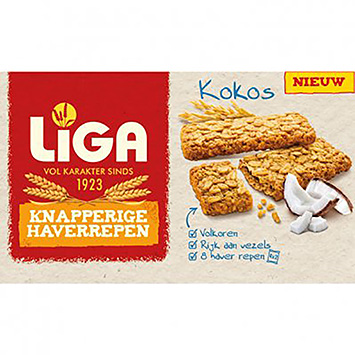 Liga Crispy oat bars of coconut 168g