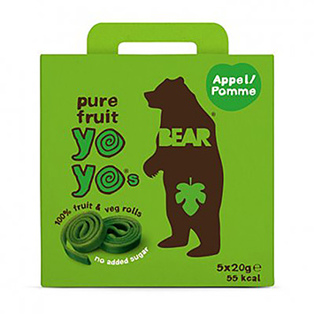 Bear Yoyos pure fruit appel 100g