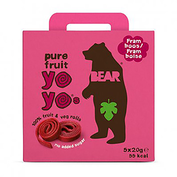 Bear Yoyos pure fruit framboos 100g