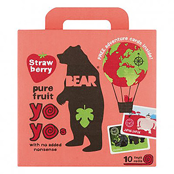 Bear Yoyos pure fruit strawberry 100g