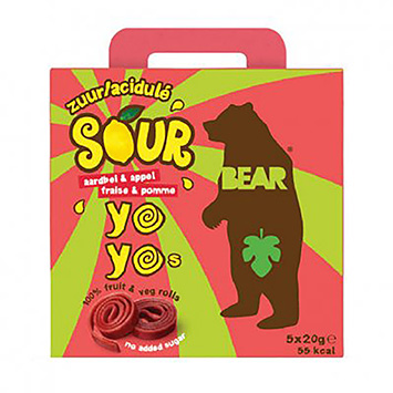 Bear Yoyos sour strawberry and apple 100g