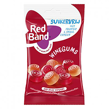 Red band Suikervrij winegum 70g