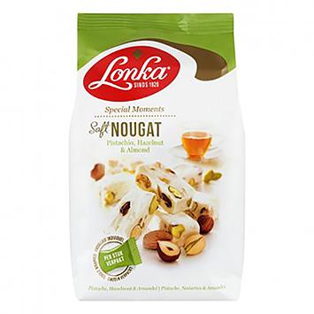 Lonka Soft nougat pistachio, hazelnut and almond 144g