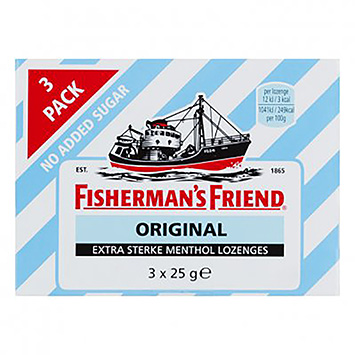 Fisherman's friend Original no added suger 3x25g
