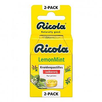 Ricola Zitronenminze Kräuterpastillen 2x50g