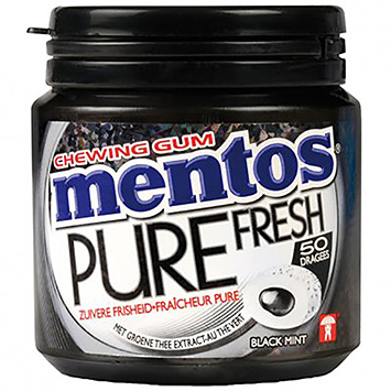 Mentos Chewing gum pure fresh black mint 100g