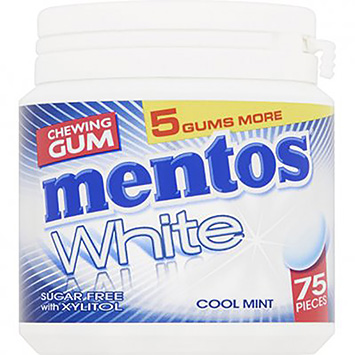 Mentos Chewing gum white cool mint 113g