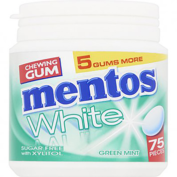 Mentos Chewing gum white green mint 113g