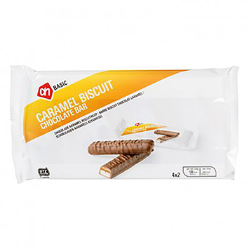AH BASIC Caramel biscuit cholate bar 4x50g