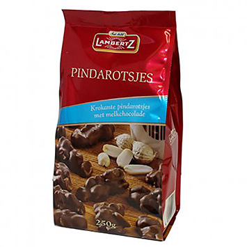 Lambertz Pindarotsjes melkchocolade 250g
