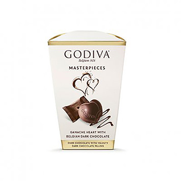 Godiva Masterpieces ganache heart with Belgian dark chocolate 117g
