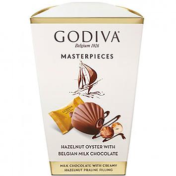 Godiva Masterpieces hazelnut oyster with Belgian chocolate 117g