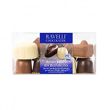Ravelli chocolatier Bouchées et bonbons 220g