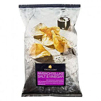 AH Excellent Ambachtelijke salt and vinegar chips 150g