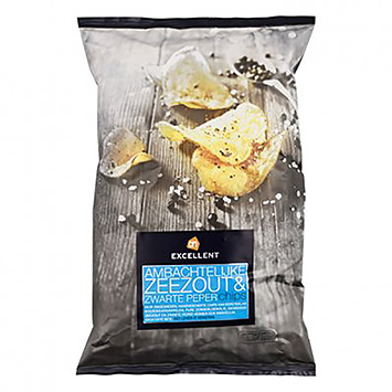 AH Excellent Artisanal sea salt and black pepper chips 150g