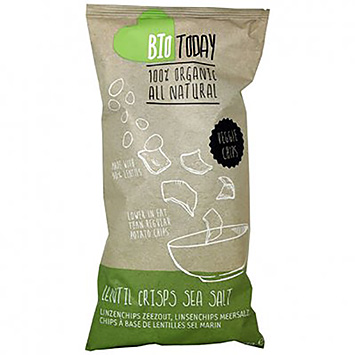 BioToday Lentil crisps sea salt 75g