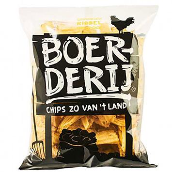 Boerderij chips zo van 't land ribbel 190g