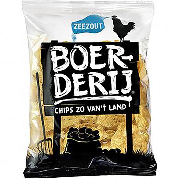 Boerderij chips zo van't land zeezout 190g