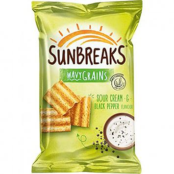 Sunbreaks Wavy grains sour cream and black pepper 95g
