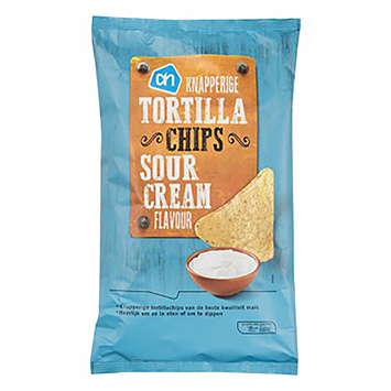 AH Knapperige tortilla chips sour cream 150g