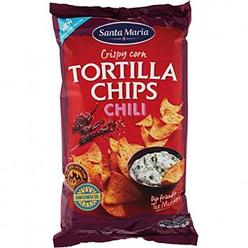 Santa Maria Crispy corn tortilla chips chili 185g