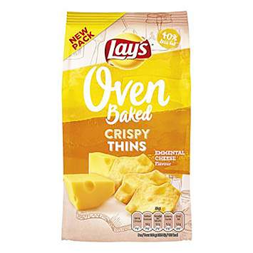 Lay's Oven baked crispy thins emmental cheese 90g