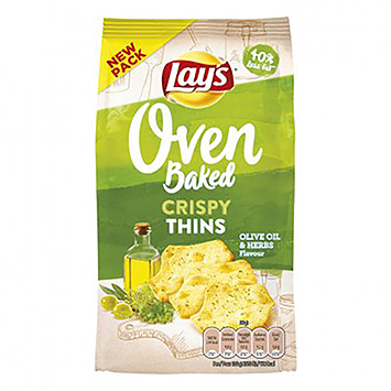 Lay's Oven baked crispy thins olive oil and herbs 90g