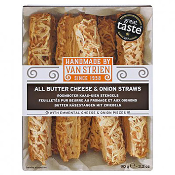 Van Strien All butter cheese and onion straw 90g