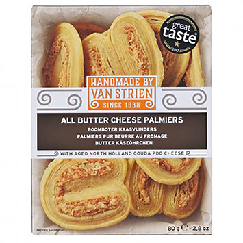 Van Strien All butter cheese palmiers 80g