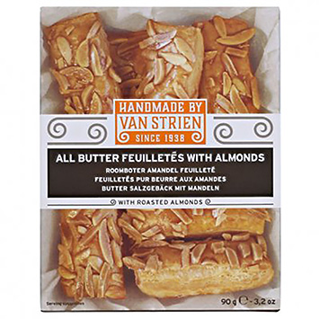 Van Strien All butter feuilletés with almonds 90g