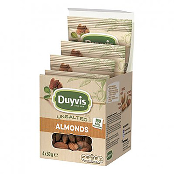 Duyvis Unsalted almonds 4x30g 120g