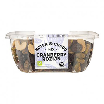 AH Noten en choco mix cranberry rozijn 170g