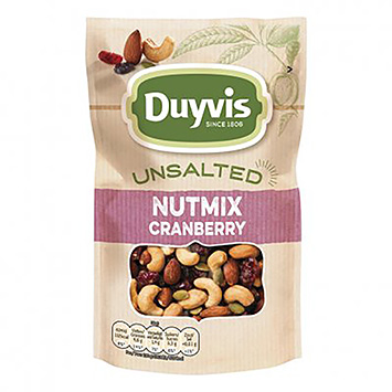 Duyvis Unsalted nutmix cranberry 125g