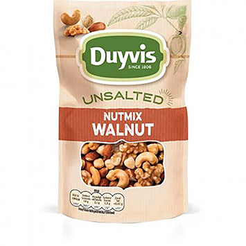 Duyvis Unsalted nutmix walnut 125g