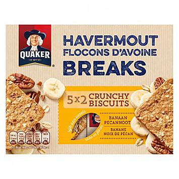 Quaker Havermout breaks banaan pecannoot 135g