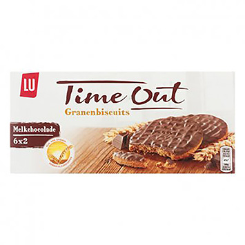 LU Time out Granenbiscuits melkchocolade 195g