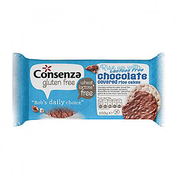 Consenza Chocolate covered ricecakes 100g