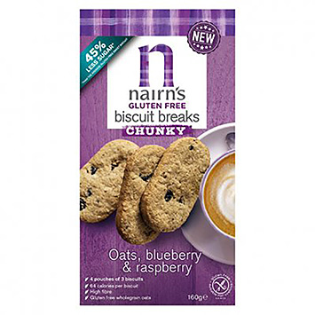 Nairn's Biscuit breaks chunky oats blueberry and raspberry 160g