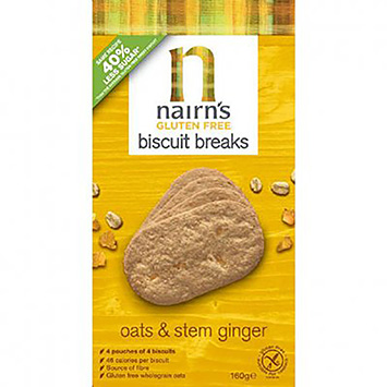 Nairn's Biscuit breaks oats and stem ginger 160g