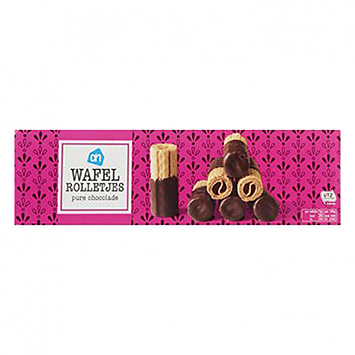 AH Waffle rolls pure chocolate 125g