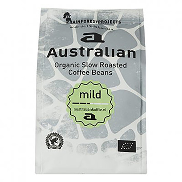 Australian Mild organic slow roasted coffee beans 250g