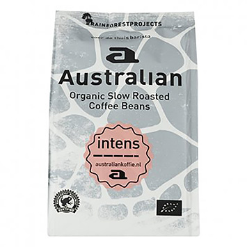 Australian Intens organic slow roasted coffee beans 250g