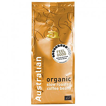 Australian Feel good organic slow roasted coffee beans 500g