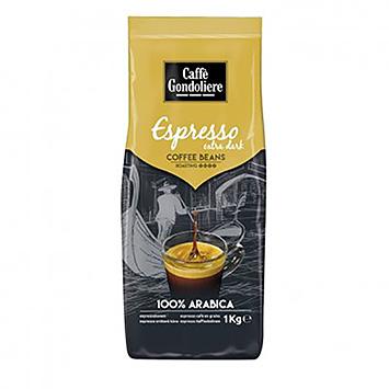 Caffè gondoliere Espresso ekstra mørke kaffebønner 1000g