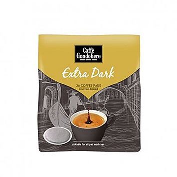 Caffè Gondoliere Extra dark 36 coffee pads 250g