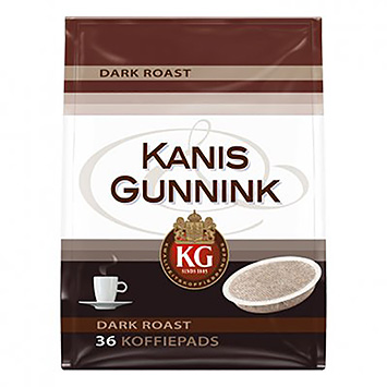 Kanis and Gunnink Dark roasts 36 coffee pods 250g
