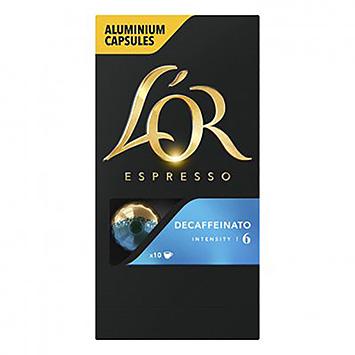 L'OR Espresso decaffeinato 10 capsules 52g