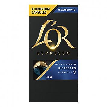 L'OR Espresso decaffeinato ristretto 10 capsules 52g